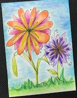 NH: Draw & Color a Flower ATC