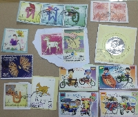 10 used postage stamps from one countries!