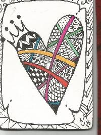 hand drawn atc w/a HEART