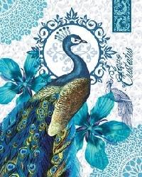 Peacock Mail Art Postcard