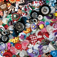 TIAZL: Decorative/Cute Buttons in a Baggie-US Only
