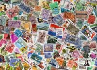 30 Used Post Stamps