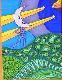 Celestial Theme Hand Drawn ATCs - US Only