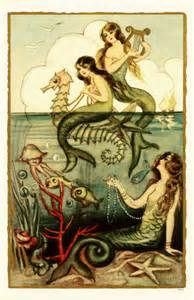 MERMAID Themed Mail Art Postcard