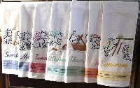 LTT: Embroidered Dish Towel--Monday