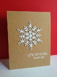 Handmade Xmas Card - UK Only