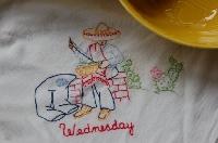 NFS&C Embroidered Dishtowel--WEDNESDAY