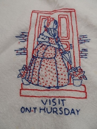 NFS&C--Embroidered Dish Towel THURSDAY
