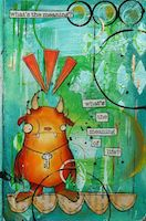 Mini Handmade Art Journal R19
