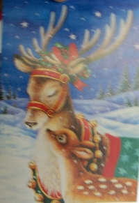 Christmas card as postcard #24 -Reindeer