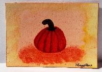 Watercolor ATC - Pumpkin