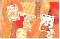 WIYM: Color Series-Orange Handmade Postcard
