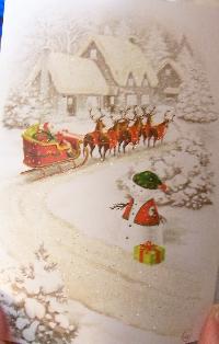 Christmas card as postcard #29 - snowperson
