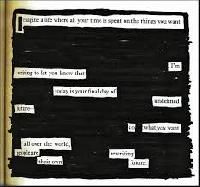 Book Page Blackout Poem x 3