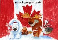 🍁 CANADA Christmas Card 🍁