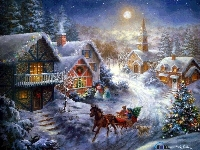 Christmas/Holiday Card # 4 - House/houses