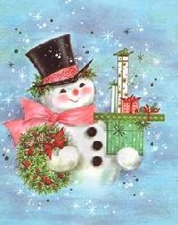 Christmas Card Fun - #2 Snowman - USA