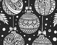 Zen Doodle Ornament Ball ATC - USA Only