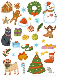 Holiday Stickers Swap