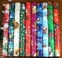 PNS: Leftover Wrapping Paper Postcard
