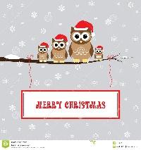 Christmas Card Swap #16 - Owl