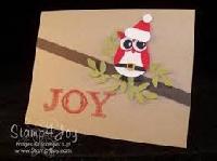 USAPC: Handmade Christmas Card w/ Deco. Envie