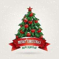 Super Quick! Christmas Tree Card - USA