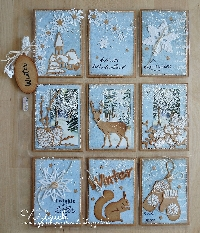 January's Colors are Blue and Ivory Pocket Letter