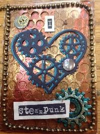 EASU: Steampunk Heart ATC