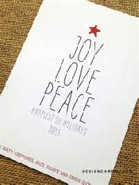 Christmas card into postcard #7 - Joy