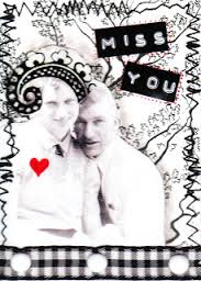 USAPC: Black & White ATC with touch of PINK