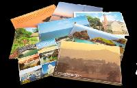USED touristy postcards swap #13