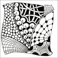 NH: Zentangle ATC #2