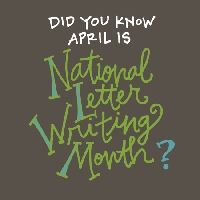 April is National Letter Writing Month