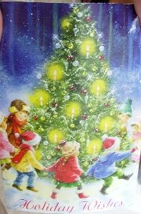 Christmas card as postcard #11 - Christmas tree