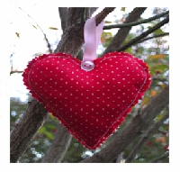 Beginners Hand Made Fabric Heart