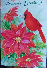 Christmas Card as Postcard #16 - Bird or birds