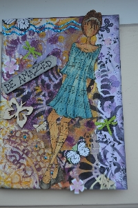 Art journal pages Julie N. Prima Doll #9