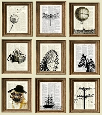 EJ: Stamped Book Pages