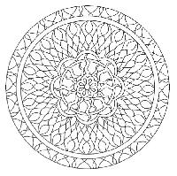 CI~ Mandala Coloring Page