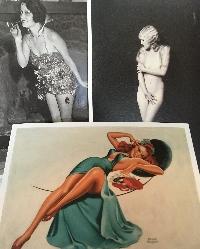 Pin-Up Girl/Burlesque Postcard