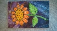 Flower postcard UK only