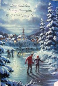 Christmas card as postcard #19 - ice skater