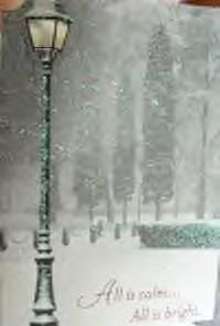 Christmas card as postcard #21 -snow