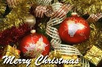 Christmas card as postcard #22 - ornament