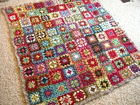 Granny squares! 3 colors US only version #6