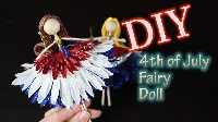 MLU: Red, White, Blue fairy doll or mermaid USA