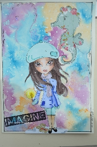 Art journal pages with dolls #6 ~ sender's choice