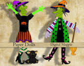 IS-Halloween Paper Doll-USA