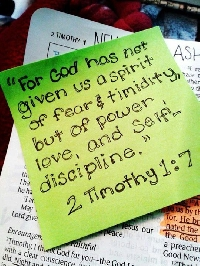PW - 7 Days of Bible Verses -- on Post It Notes!